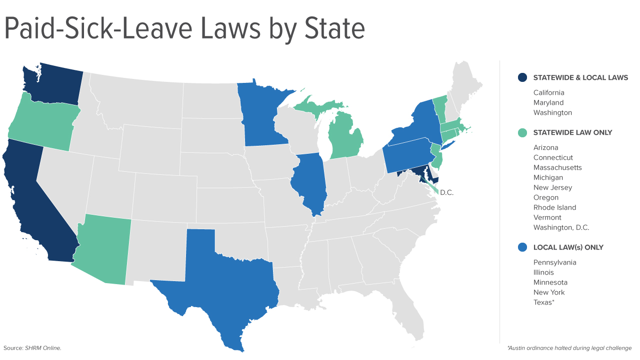 Paid Sick Leave Map 4 12 2019