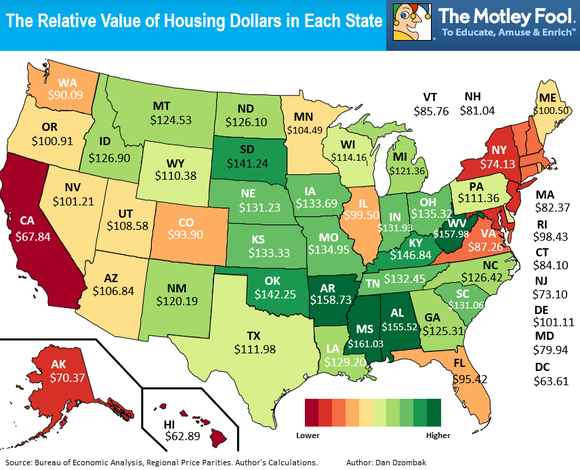 Cost Of Living Comparison And Payroll Management - Us cost of living map